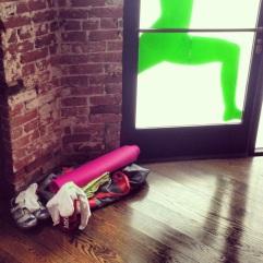yoga mat, spin, yoga studio, towel